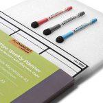 Planning Semaine Format A3 Pour Frigo Par Plan Smart - Calendrier hebdomadaire Tableau Blanc Magnétique - BONUS: 3 Marquers De Qualité de la marque Plan Smart image 1 produit