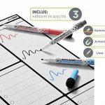 Planning Semaine Format A3 Pour Frigo Par Plan Smart - Calendrier hebdomadaire Tableau Blanc Magnétique - BONUS: 3 Marquers De Qualité de la marque Plan Smart image 3 produit