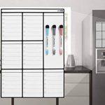 Planning Semaine Format A3 Pour Frigo Par Plan Smart - Calendrier hebdomadaire Tableau Blanc Magnétique - BONUS: 3 Marquers De Qualité de la marque Plan Smart image 4 produit