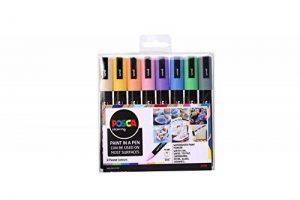 Posca 153544854 Lot de 8 Marqueurs peinture avec encre à base d'eau et pointe ogive 2,5mm de la marque Posca image 0 produit