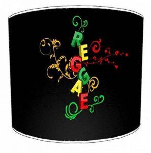 Premier Abat-jour Table reggae abat-jour design écriture sur fond noir, 30,5cm de la marque Premier Lampshades image 0 produit