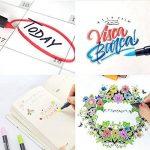 PuTwo aquarelle Peinture Brosse Lot de stylos pour des livres de coloriage pour adulte Bullet Journal prise de note Dessin Planning, d'art Project de la marque PuTwo image 3 produit