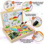 Puzzles en Bois Magnétique | Infinitoo Jouet Educatif et Créatif coloré avec Tableau à Double Face Magnétique | Planche à Dessin Blanc et Noir Réglable |Graffiti et Création pour Enfants 3 Ans et Plus de la marque infinitoo image 2 produit