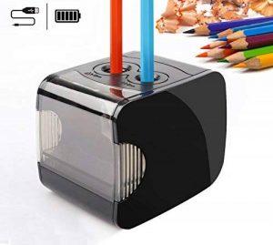 QHUI Taille-crayon électrique à piles/USB 2trous Résistant Fonctionnement automatique Adapté aux enfants Idéal pour crayons n°2et crayons de couleur à la maison, en classe et au bureau. de la marque QHUI image 0 produit