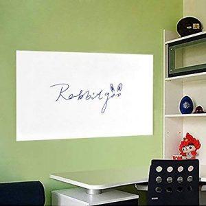 Rabbitgoo Grand Tableau Blanc Adhésif Ardoise Effaçable Sticker Autocollant Mural 44.5cm x 199cm avec 1 Marqueur pour l'école/Bureau / Accueil - Blanc de la marque Rabbitgoo image 0 produit