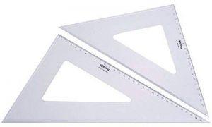 Rotring Kit de 2 équerres à dessin Centro 45 32 cm et 60 degrés 37 cm de la marque Rotring image 0 produit