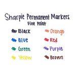 Sanford Sharpie Fine Point Permanent Markers 8/Pkg-Assorted Colors de la marque Sanford image 3 produit