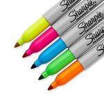 Sanford Sharpie Marqueur à Pointe Fine Indélébile Orange, Vert, Bleu, Rose et Jaune Fluo de la marque Sanford image 2 produit