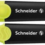 Schneider 115096 Pochette de 6 surligneurs Jaune/Orange/Rose/Vert/Rouge/Bleu de la marque Schneider image 1 produit
