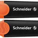 Schneider 115096 Pochette de 6 surligneurs Jaune/Orange/Rose/Vert/Rouge/Bleu de la marque Schneider image 2 produit