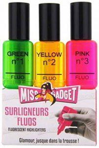 Set de 3 surligneurs fluos fun forme vernis à ongles de la marque MISS GADGET image 0 produit