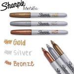 Sharpie Marqueur permanent métallique à pointe fine doré - 1 Unité de la marque Sharpie image 1 produit