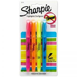 SHARPIE - Pocket Style Highlighters Chisel Tip Assorted Fluorescent - 4 Pack de la marque Sharpie image 0 produit