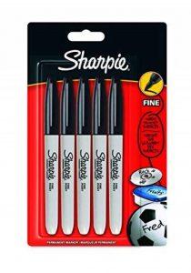 Sharpie S0811000 Pochette de 5Marqueurs Permanents à Pointe Fine Encre Noir de la marque Sharpie image 0 produit