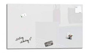 Smart Glass Board ® 100 x 60 cm, Blanc, Tableau magnétique en verre / Mémo magnétique / Tableau d'affichage + 3 Aimants + 1 Marqueur + 1 Brosse D'effacage Magnétique de la marque GlasExpert - Glas für Haus image 0 produit