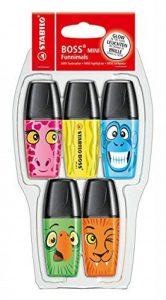 STABILO BOSS MINI FUNNIMALS - Pack de 5 surligneurs (Édition Limitée) - Coloris assortis de la marque STABILO image 0 produit