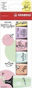 STABILO BOSS MINI Pastellove - Étui carton de 6 surligneurs - Coloris assortis de la marque STABILO image 0 produit