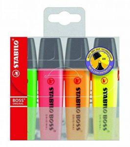 STABILO BOSS ORIGINAL - Pochette de 4 surligneurs - Coloris assortis de la marque STABILO image 0 produit