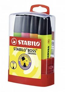 STABILO BOSS ORIGINAL - Étui BOSSparade de 4 surligneurs - Coloris assortis de la marque STABILO image 0 produit