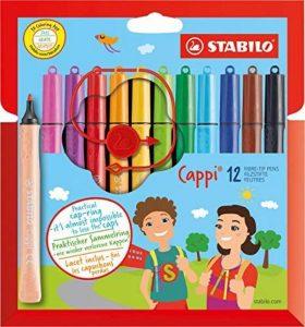 STABILO Cappi - Étui carton de 12 feutres pointe moyenne + 1 lacet d'attache de la marque STABILO image 0 produit