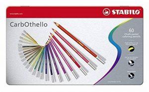 STABILO CarbOthello - Boîte métal de 60 crayons de couleur fusains pastels + taille-crayon - Coloris assortis de la marque STABILO image 0 produit