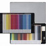 STABILO CarbOthello - Boîte métal de 60 crayons de couleur fusains pastels + taille-crayon - Coloris assortis de la marque STABILO image 1 produit