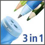 STABILO EASYsharpener - Blister Taille-crayon ergonomique bleu avec réservoir - Droitier de la marque STABILO image 1 produit