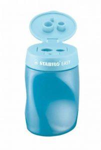 STABILO EASYsharpener - Lot de 3 taille-crayons ergonomiques bleus avec réservoir - Gaucher de la marque STABILO image 0 produit