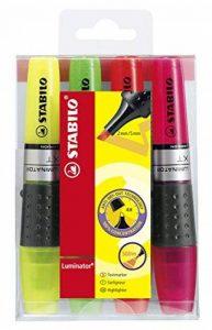STABILO LUMINATOR - Pochette de 4 surligneurs à encre liquide - Coloris assortis de la marque STABILO image 0 produit