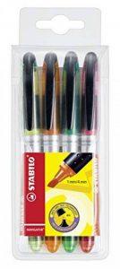 STABILO NAVIGATOR - Pochette de 4 surligneurs à encre liquide - Coloris assortis de la marque STABILO image 0 produit