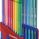 STABILO Pen 68 - ColorParade rouge de 20 feutres pointe moyenne sans attache - Coloris assortis de la marque STABILO image 2 produit
