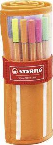 STABILO point 88 - Rollerset de 30 stylos-feutres pointe fine - dont 5 couleurs fluos de la marque STABILO image 0 produit