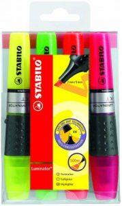 STABILO Surligneurs luminator 71–4 Assorties 2/5 mm, capacité 4 de la marque STABILO image 0 produit
