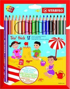 STABILO Trio - Étui carton de 18 crayons de couleur triangulaires + taille-crayon de la marque STABILO image 0 produit