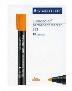 Staedtler 352-4 Lumocolor Marqueur permanent Pointe ogive Orange Boîte de 10 (Import Royaume Uni) de la marque Staedtler image 0 produit