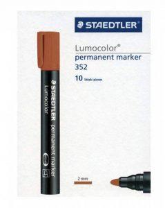 Staedtler 352-7 Lumocolor Marqueur permanent Pointe ogive Marron Boîte de 10 (Import Royaume Uni) de la marque Staedtler image 0 produit