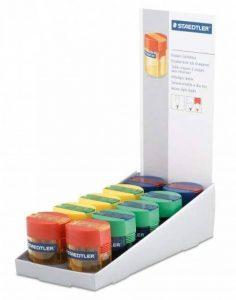 Staedtler 512 006 Taille-crayon 2 usages Couleurs assorties Lot de 10 de la marque Staedtler image 0 produit