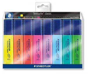 Staedtler - Textsurfer Classic 364 - Pochette 8 Surligneurs Pointe Biseau 1 à 5 mm Assortis de la marque Staedtler image 0 produit