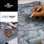 Stationery Island Feutre Textile – Feutres Tissu Permanents Double Pointe Pack de 12 de la marque Stationery Island image 3 produit