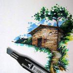 Stylos Marqueurs Indélébiles Permanents Feutres pour Tableaux Blancs Dessin Peinture 24 36 48 60 80 Couleurs (36 couleurs) de la marque zhenghewyh image 3 produit