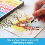 Stylos pinceaux à eau - Set de 4 pointes pinceaux – parfaits pour utilisation avec des peintures aquarelle, des crayons, des stylos pinceaux, des marqueurs solubles à l'eau – Se mélange à l'eau – pratique – Aqua Pen – MozArt Supplies de la marque MozArt S image 2 produit