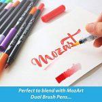 Stylos pinceaux à eau - Set de 4 pointes pinceaux – parfaits pour utilisation avec des peintures aquarelle, des crayons, des stylos pinceaux, des marqueurs solubles à l'eau – Se mélange à l'eau – pratique – Aqua Pen – MozArt Supplies de la marque MozArt S image 4 produit