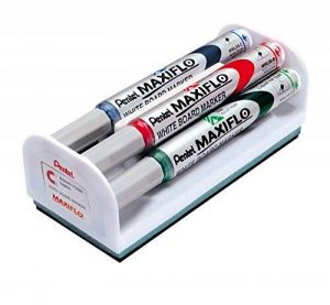 Stylotel MaxiFlo Marqueur Pointe fine pour tableau blanc - Assorti (Lot de 4) de la marque Pentel image 0 produit