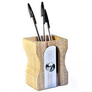 SUCK UK Pot à crayons design Taille-crayons géant Beige et chrome Bois et métal acier inoxydable de la marque Suck image 0 produit