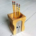 SUCK UK Pot à crayons design Taille-crayons géant Beige et chrome Bois et métal acier inoxydable de la marque Suck image 2 produit