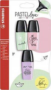 Surligneur–Stabilo Boss Mini Pastel Love–Lot de 3–Touche de vert menthe, d'rosiges Rouge, lueur de Violet de la marque STABILO image 0 produit