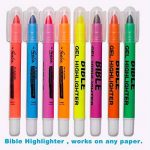 Surligneurs Gel, Feela 8 Bible Pastel Surligneurs Marqueurs Ensemble de couleurs assorties de la marque Feela image 2 produit