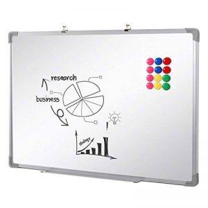 SwanSea Tableau Blanc Magnétique effaçable à sec pour école à la maison de bureau avec 12 Magnètes 60x45cm de la marque SwanSea image 0 produit