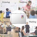 SwanSea Tableau Blanc Magnétique effaçable à sec pour école à la maison de bureau avec 12 Magnètes 90x60cm de la marque SwanSea image 4 produit