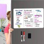 Tableau Blanc Magnétique A3+ pour Frigo-AntiTaches,Tableau Mémo Aimanté pour Planning Semaine Menu Listes De Courses Organisateur Cuisine et Notes de Bureau,Tableau d'écriture pour Enfants et Adultes Inclut 2 Stylo Marqueur et 1 Effaceur de la marque image 2 produit